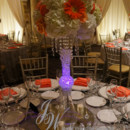 130x130 sq 1431624190951 coral and white centerpieces with purple led 2