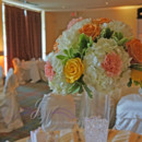 130x130 sq 1431625113838 yellow and orange centerpieces 7