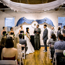 220x220 sq 1459281379029 ceremony with blue wings   laurenbphotography