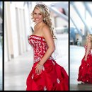 Sports Authority Field - Mile High Stadium - Football wedding - Red wedding dress