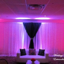 220x220 sq 1432862900384 backdrop with pink lighting