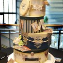 Vintage Hatboxes inspired this unique wedding cake