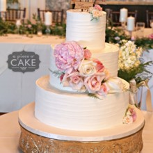 220x220 sq 1481306175130 love is patient wedding cake