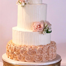 220x220 sq 1481306247340 sand rose wedding cake
