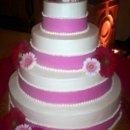 130x130 sq 1214260448832 weddingcake pinkbandedcake