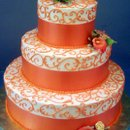 130x130 sq 1224171211477 weddingorangebandedwithcornellilace