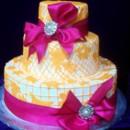 130x130 sq 1371002586951 wedding   pink bow and orange design