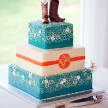 220x220 sq 1449936988423 wedding cake for yost with boots