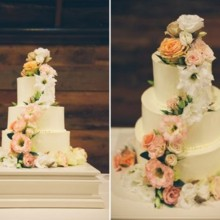 220x220 sq 1449937559644 3 tier wedding cake with cascading floralsfull