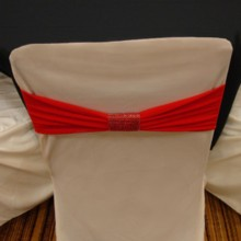 220x220 sq 1405207167815 red band on ivory standard cover with red bracelet