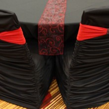 220x220 sq 1405207987281 red band on black ruched cover with black bracelet