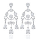 18K Diamond Chandelier Earrings <br /> Haute Vault&#39;s earrings are for the woman who love to sparkle! Showcase your discerning taste with almost 5 carats of finely crafted jewels. The height of chic elegance, reserve these glorious baubles for the event of the year.