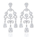 18K Diamond Chandelier Earrings Haute Vault's earrings are for the woman who love to sparkle! Showcase your discerning taste with almost 5 carats of finely crafted jewels. The height of chic elegance, reserve these glorious baubles for the event of the year.