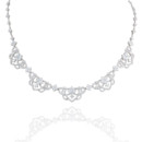 18K Sophia Diamond Necklace Regal and intricate with almost 7 carats of diamonds, Haute Vault's couture necklace epitomizes feminine elegance. This fit-for-a-queen, necklace will have you