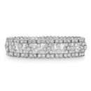 18K Heirloom Diamond Florette Bracelet A magnificent stylist favorite, this heirloom inspired bracelet will leave an impression as you look back at your wedding photos. Haute Vault's platinum and triple row diamond bracelet features a center row that creates a flower pattern. With almost 24 carats of stunning diamonds, this bracelet is made for a queen! Measures 7