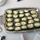 130x130 sq 1394487578449 600x6001394397935654 lump crab mousse on cucumber