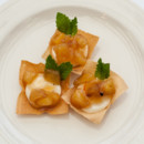130x130 sq 1461611333226 wonton cup with cream cheese and apple chutney
