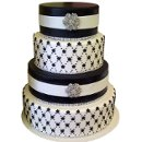 130x130 sq 1348719861882 cakeblackwhitewedding