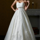 Eden Bridals BL094  A romantic ball gown made strapless with a sweetheart ruching bodice and embellished at the natural waist with heavily beaded trim.