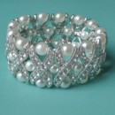 130x130 sq 1418150307773 w cross my heart pearl rhinestone bracelet one rem