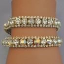 130x130 sq 1418151353353 w rodeo drive gold bracelets clear or ab reflectiv