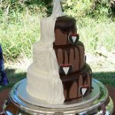 130x130 sq 1431726441988 shared bride and groom cake