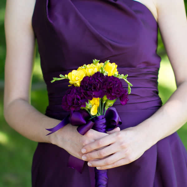 Purple And Yellow New York Wedding Wedding Real Weddings