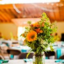Venue: Planet Bluegrass Ranch  Floral Designer: Cori Cook Floral Design  Catering & Day of Coordinator: A Spice of Life  Pies: Shamane's Bake Shoppe  Photobooth: The ModPod  Invitations: Gayle Gerson  Flower Girl Dresses: Jen's Hems  Dress Designer: Wtoo by Watters  Dress Store: Boulder Bridal  Seamstress: Nadine Hooper  Veil: Nadine Hooper  Bridal Shoes: Shepler's  Groom's Shoes: Ariat  Jewelry: Vintage Moon Creations  Hair & Makeup Artist: Jen Murphy  Bridesmaid Dresses: Alfred Angelo  Groom's Attire: Macy's & Banana Republic  Groom's Hat: Goorin Bros.  Ceremony Music: Eamon Alger  Favors: Savory Spice Shop  Band: PKB – Pete Kartsounes Band  Microbrews: Palisade Brewing Company  Transportation: University of Colorado Buff's Bus  Signage: Our Hobby to Your Home