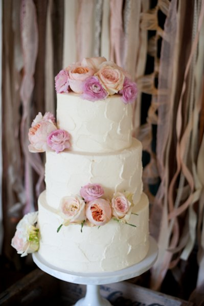 Amazing Classic Romantic Shabby Chic Pink Buttercream Flowers Round Spring Summer Wedding  Cake Wedding Cakes Photos U0026 Pictures   WeddingWire.com