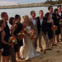 220x220 sq 1451762613629 allie bridal party on beach for wedding wire