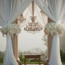 130x130 sq 1470425845992 chuppah with drape and chandelier
