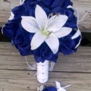 130x130 sq 1365305193301 bouquet blue rose white lily3