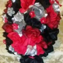 130x130 sq 1366519325819 cascading red black silver set bride4