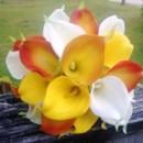 130x130 sq 1367127214454 calla orange yellow white bouquet