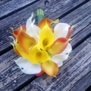130x130 sq 1367127222008 calla orange yellow white bouquet3