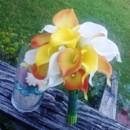 130x130 sq 1367127228136 calla orange yellow white bouquet5