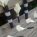130x130 sq 1367127271869 calla set black wrap with rhinestone bout corsage