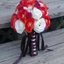 130x130 sq 1367728571780 bouquet orange ranunculus ivory rose3