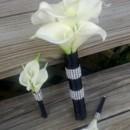 130x130 sq 1367771337923 calla set black wrap with rhinestone bridesmaid