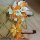130x130 sq 1385711841841 calla orange white bridal bridesmaids burlap lac