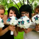 130x130 sq 1416890351739 bride bailey bridesmaids white blue orchid2