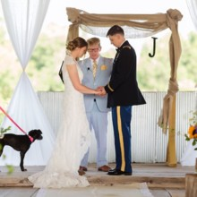 220x220 sq 1507159255767 dogs in wedding 3