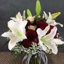 130x130 sq 1355422920146 bouquetcasablancaandredrose