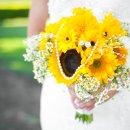 130x130 sq 1355423097486 bridebouquetsunflowerwithpearls