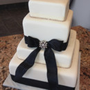 130x130 sq 1374147086863 black ribbon wed cake web