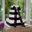 130x130 sq 1421251996632 black ribbon wedding cake