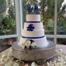 130x130 sq 1421252023030 blue orchid wedding cake