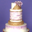 130x130 sq 1442754585742 gold sequin wedding cake 2015