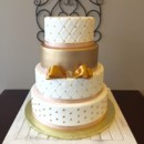 130x130 sq 1465148981948 wedding gold quilted wedding cake 2016