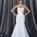FLETCHER Classic, strapless, sweetheart neckline, fit-n-flare, fully laced gown.